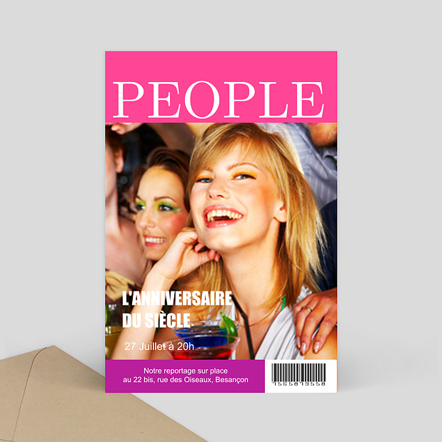 Invitation anniversaire magazine people