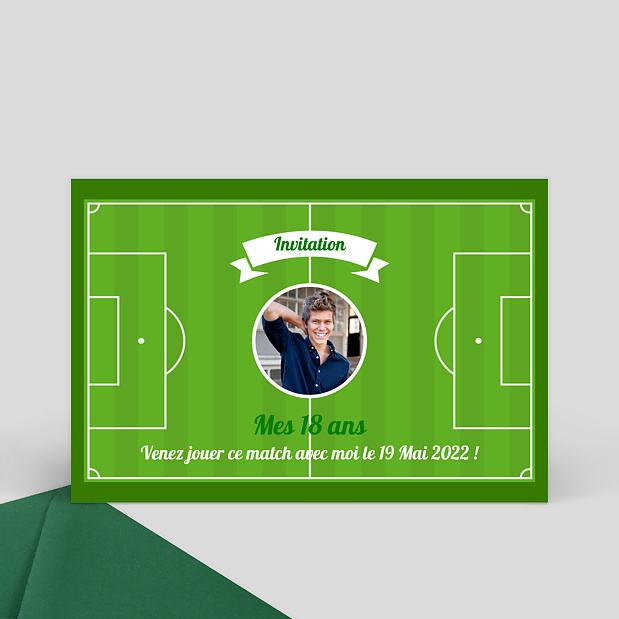 Turbo Carte d'invitation anniversaire terrain de foot EG83