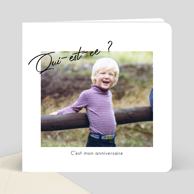 carte d 39 invitation anniversaire devinette popcarte. Black Bedroom Furniture Sets. Home Design Ideas