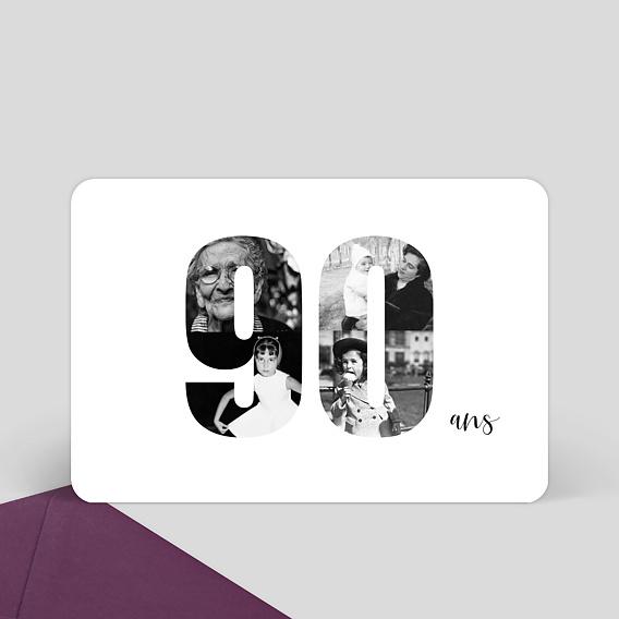 Hervorragend Invitation Anniversaire 90 ans - Popcarte XV44