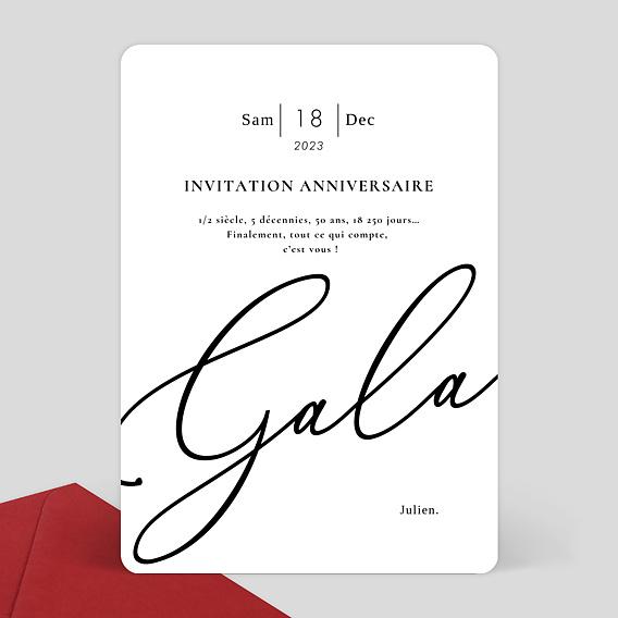 Fabuleux Carte d'invitation anniversaire glamour VJ84