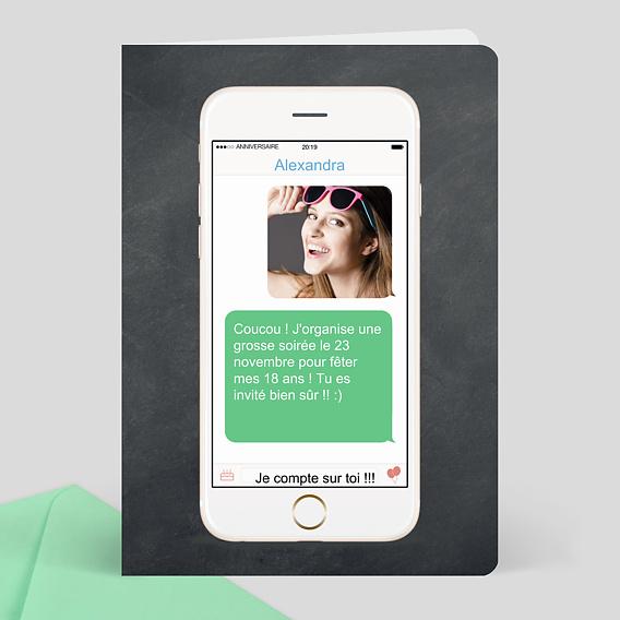 carte d 39 invitation anniversaire sms. Black Bedroom Furniture Sets. Home Design Ideas
