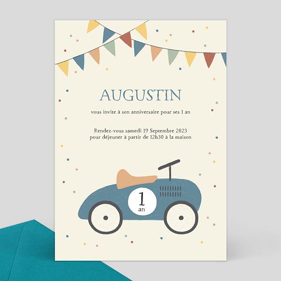 carte d 39 invitation anniversaire enfant voitures. Black Bedroom Furniture Sets. Home Design Ideas