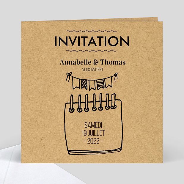Invitation petit carnet popcarte - Invitation anniversaire surprise ...