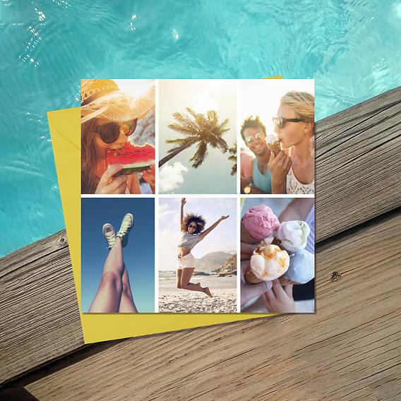 Carte multiphoto 6 photos