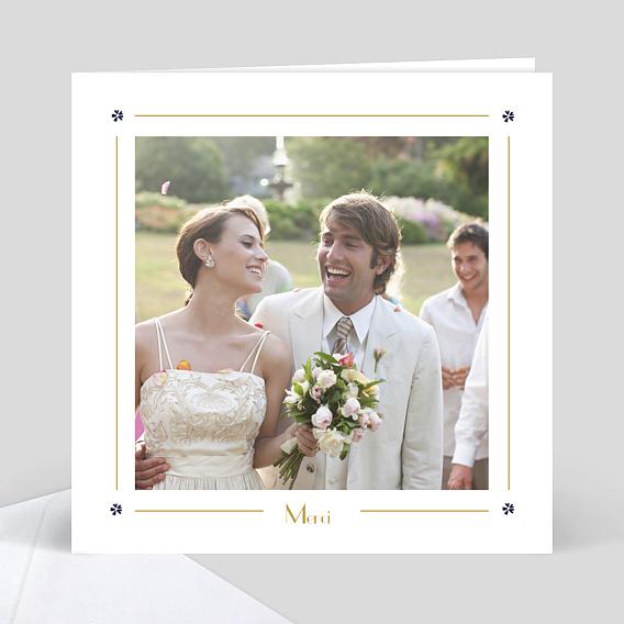 remerciement mariage chic - Photo Remerciement Mariage