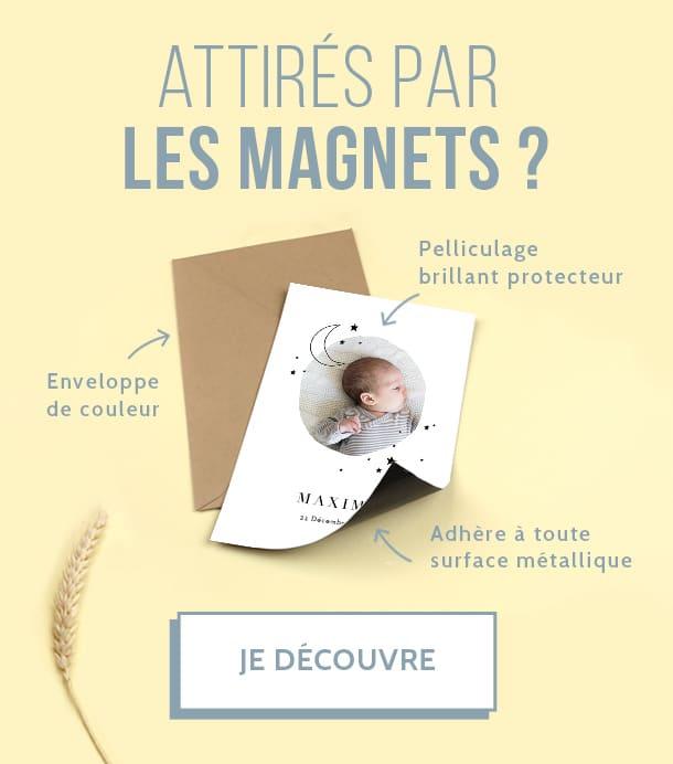 Extremement Faire-part naissance magnet - Popcarte DY-19