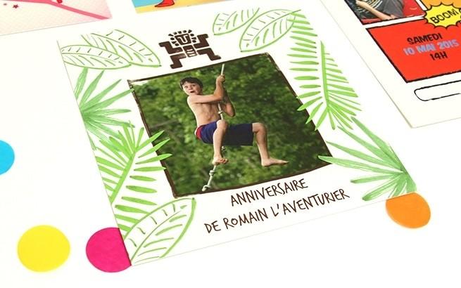Très Cartes d'Invitation Personnalisées - Popcarte QZ23