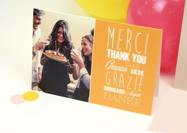 Connu Cartes de Remerciements - Popcarte QZ65