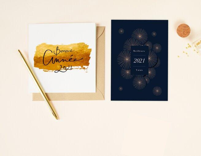 Cartes De Vœux 2021 Personnalisees Popcarte