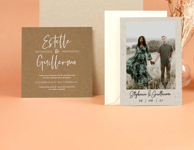 Audacieux Faire-part personnalisés : mariage, naissance, baptême - Popcarte BP-21