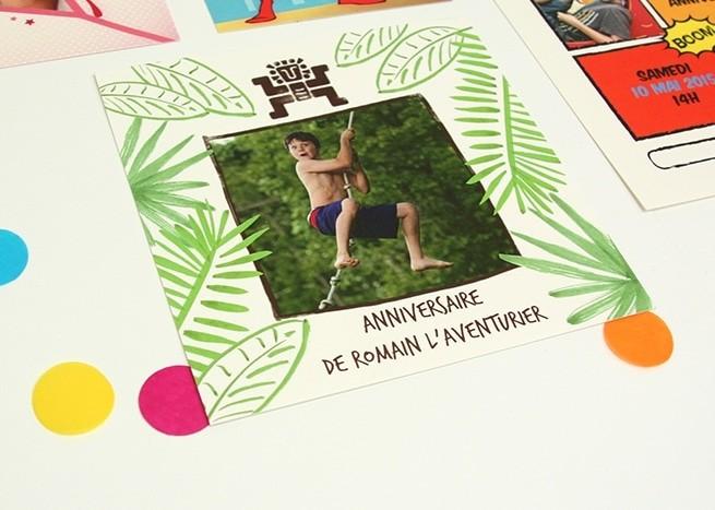 Préférence Cartes d'Invitation Anniversaire - Popcarte YY05
