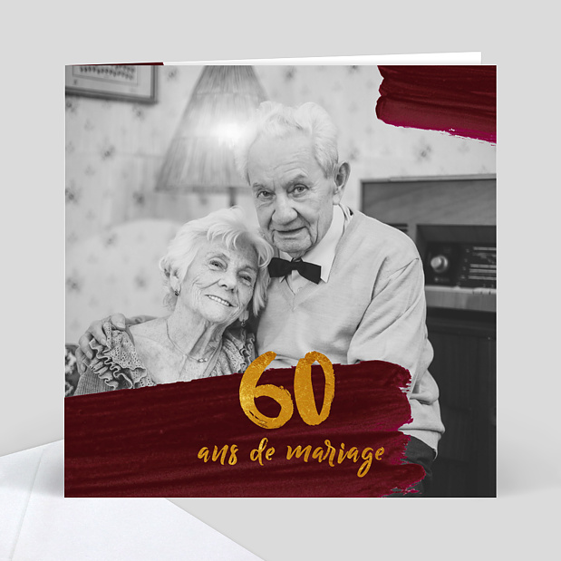 anniversaire de mariage 60 ans popcarte. Black Bedroom Furniture Sets. Home Design Ideas