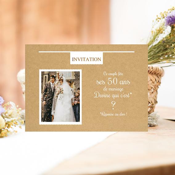 invitation anniversaire mariage devine popcarte. Black Bedroom Furniture Sets. Home Design Ideas