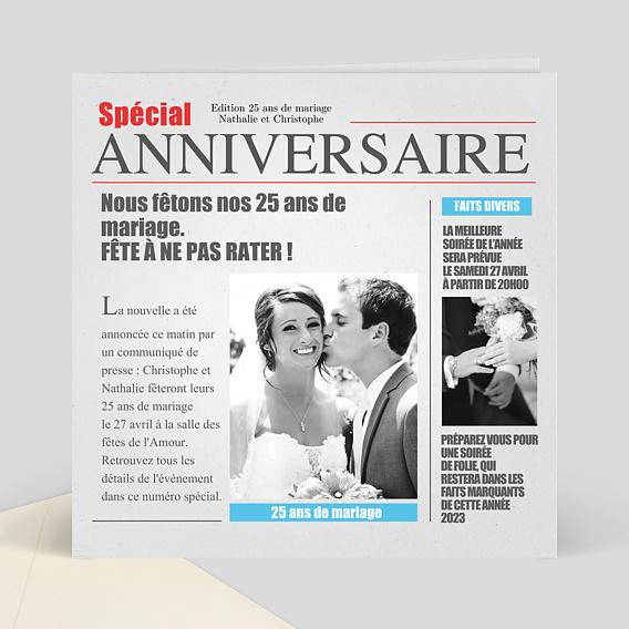 Carte Anniversaire Mariage Humoristique