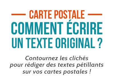 Nos Conseils Pour Un Ecrire Un Texte De Carte Postale Original Minute Pop